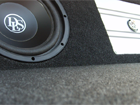 Subwoofer avec un amplificateur visible (Photo)